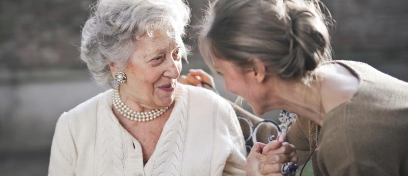 Elderly relative living on their own